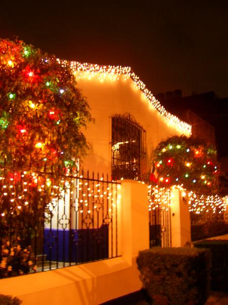 Decora con luces navide as el exterior de tu casa for Guirnaldas de luces para exterior