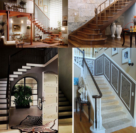 Decoraci n de escaleras interiores for Ideas para escaleras de interior