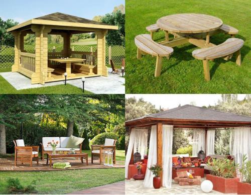Decorando nuestro jard n los muebles auxiliares - Como decorar un patio exterior ...