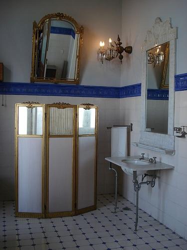 Espejo dorado for Espejo dorado bano