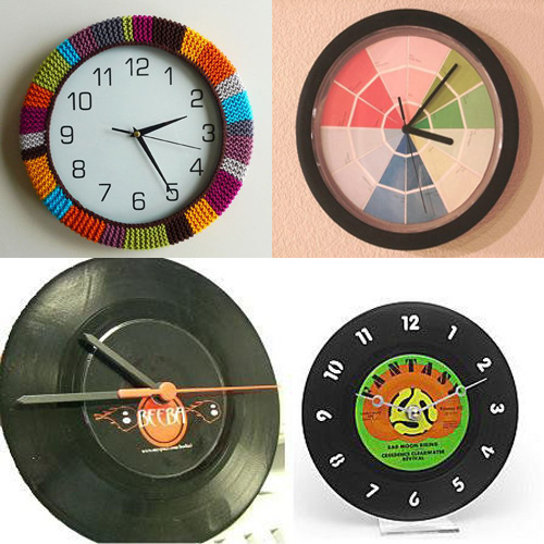 Reciclar un reloj de pared deteriorado - Hacer un reloj de pared ...