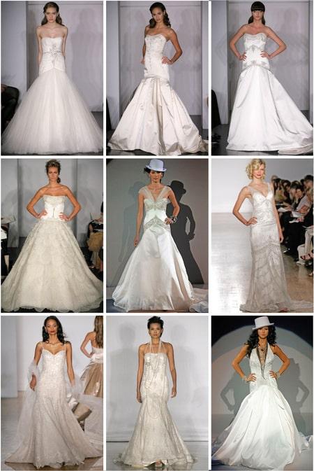 Últimas tendencias en trajes de novias.