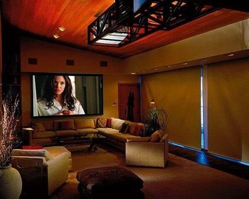 Una sala de entretenimiento en casa para nosotros los adultos - Cool home theater interior ideas ...